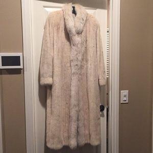 Jackets & Blazers - Mink fur coat with fox collar and trim